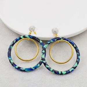 Brand new lele sadoughi hoop earrings